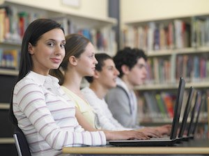 College Students on Laptop